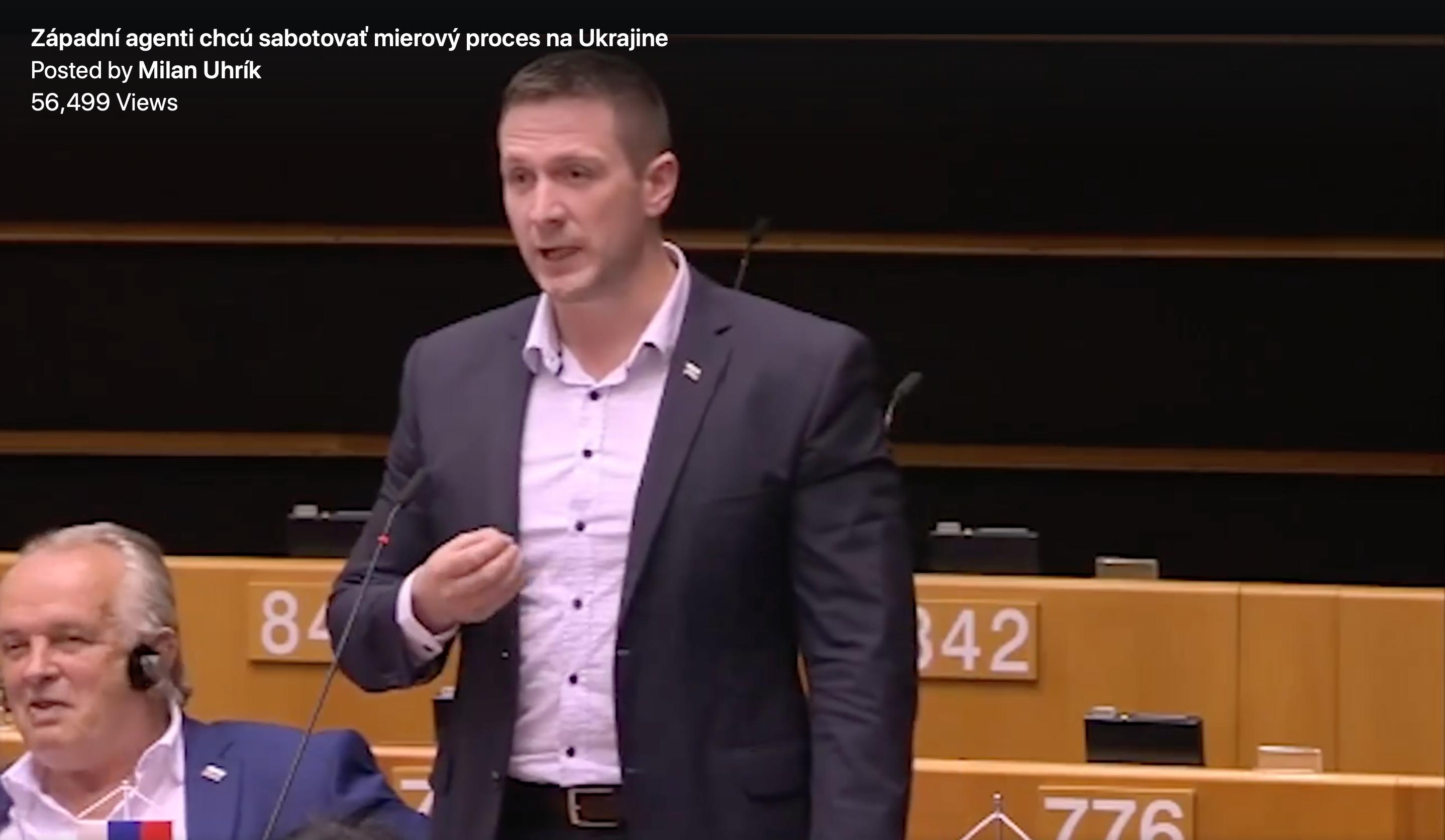 Uhrík šíri v Európskom parlamente proruské dezinformácie