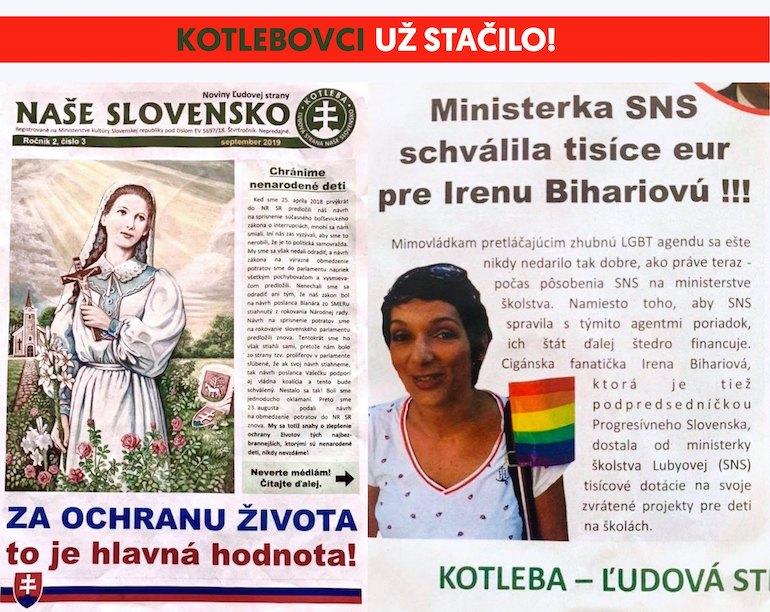 Kotlebovci útočia na podpredsedníčku Progresívneho Slovenska