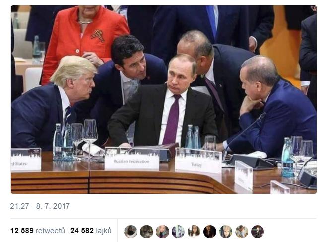 Fake: Putin v debate so svetovými lídrami