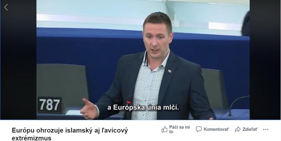 Uhrík znovu šíri konšpirácie v Európskom parlamente