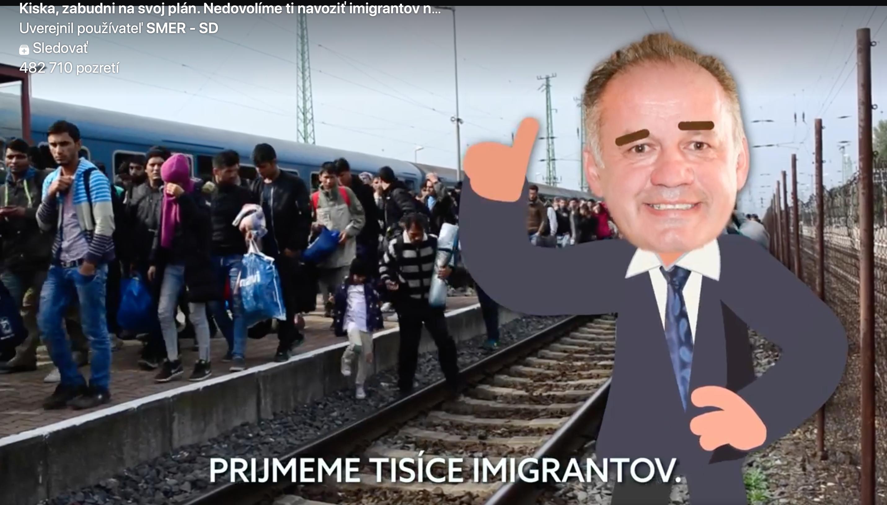 Smer straší migrantmi. Kiska vraj chce na Slovensko priviesť tisíce imigrantov