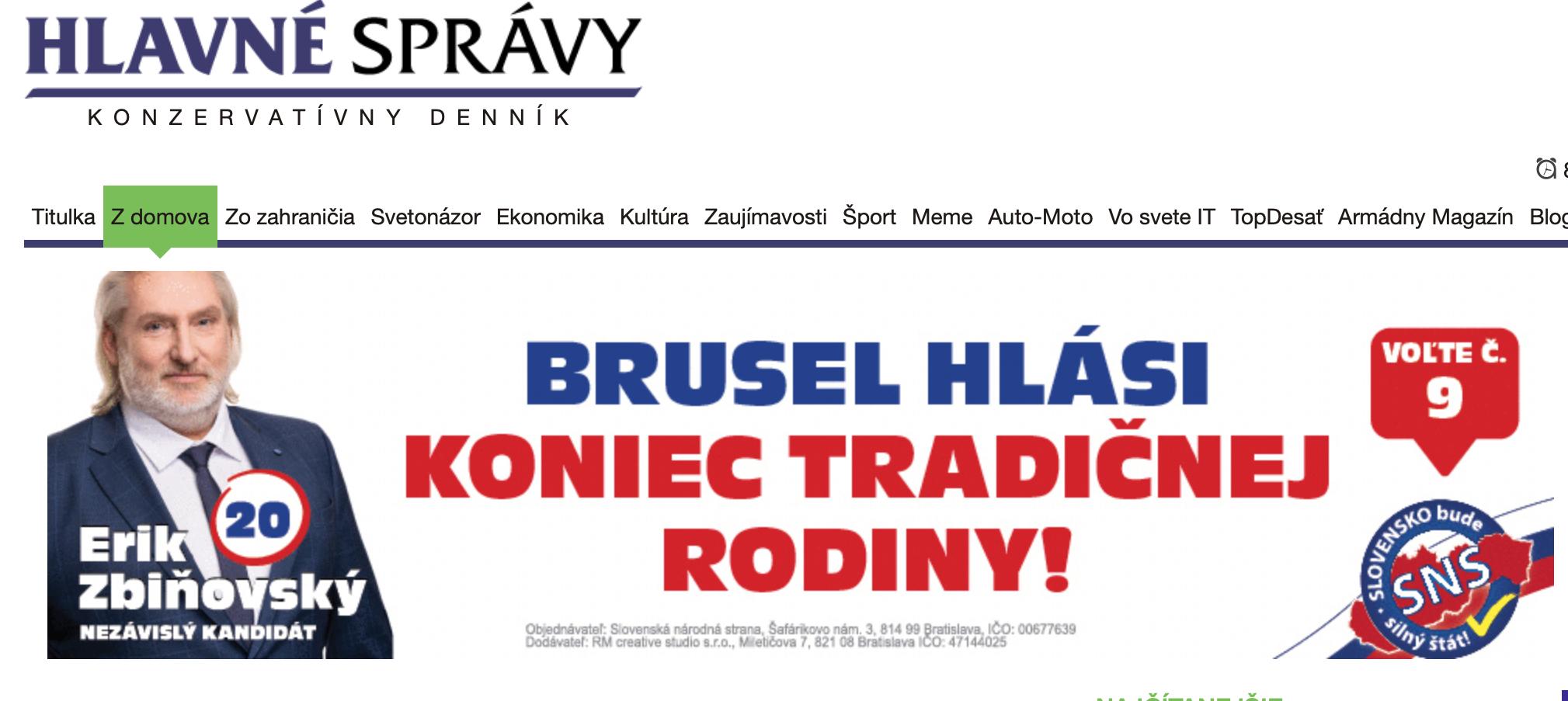 Danko, Kotleba a Harabin si platia reklamu na dezinformačnom webe